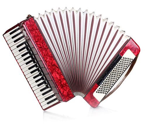 klavirska harmonika crvena