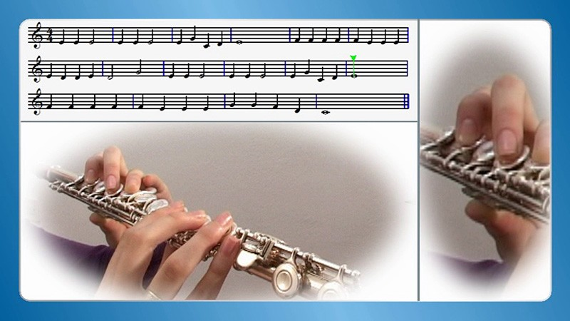 sviranje poprečne flaute po notama