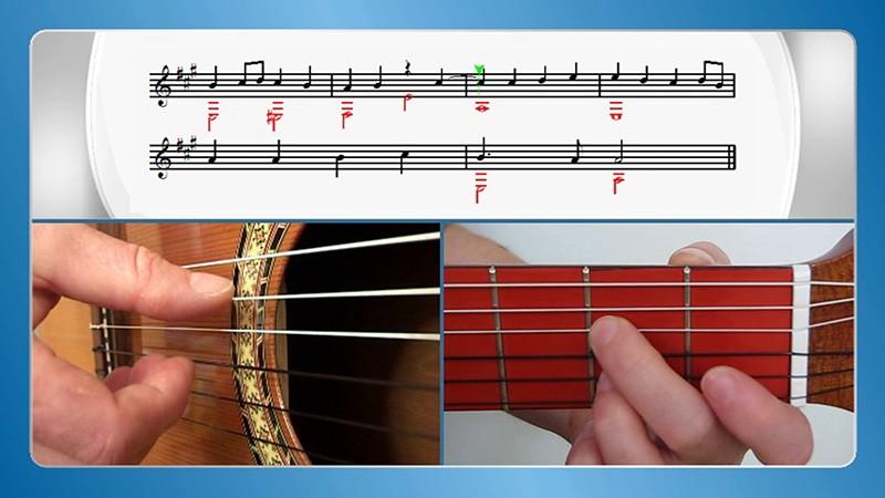 sviranje gitare po notama