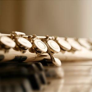 poprečna flauta i note